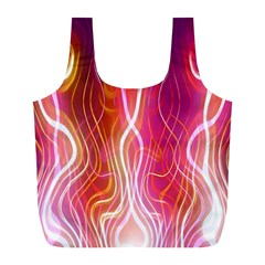 Fire Flames Abstract Background Full Print Recycle Bags (L)