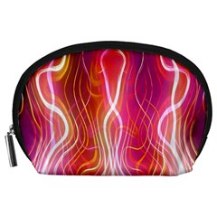 Fire Flames Abstract Background Accessory Pouches (Large)