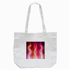Fire Flames Abstract Background Tote Bag (White)