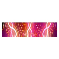 Fire Flames Abstract Background Satin Scarf (Oblong)