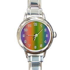 Colorful Stipple Effect Wallpaper Background Round Italian Charm Watch