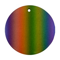 Colorful Stipple Effect Wallpaper Background Ornament (Round)