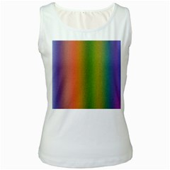 Colorful Stipple Effect Wallpaper Background Women s White Tank Top
