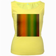 Colorful Stipple Effect Wallpaper Background Women s Yellow Tank Top