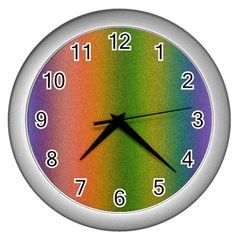 Colorful Stipple Effect Wallpaper Background Wall Clocks (silver)