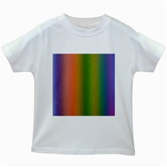 Colorful Stipple Effect Wallpaper Background Kids White T-Shirts
