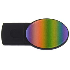 Colorful Stipple Effect Wallpaper Background USB Flash Drive Oval (1 GB)