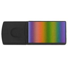 Colorful Stipple Effect Wallpaper Background USB Flash Drive Rectangular (2 GB)