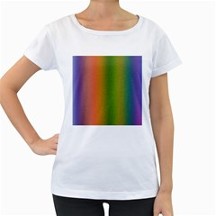 Colorful Stipple Effect Wallpaper Background Women s Loose Fit T Shirt (white)