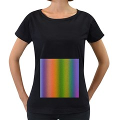 Colorful Stipple Effect Wallpaper Background Women s Loose Fit T Shirt (black)