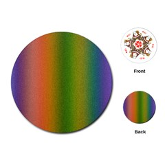 Colorful Stipple Effect Wallpaper Background Playing Cards (Round)