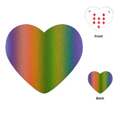 Colorful Stipple Effect Wallpaper Background Playing Cards (heart)