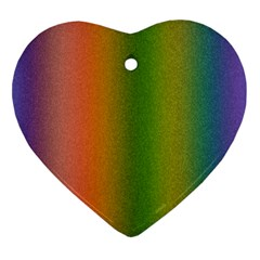 Colorful Stipple Effect Wallpaper Background Heart Ornament (Two Sides)
