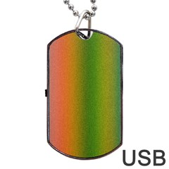 Colorful Stipple Effect Wallpaper Background Dog Tag USB Flash (Two Sides)