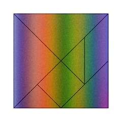Colorful Stipple Effect Wallpaper Background Acrylic Tangram Puzzle (6  x 6 )
