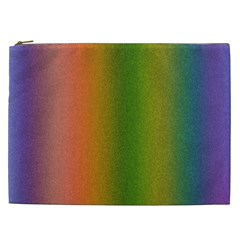Colorful Stipple Effect Wallpaper Background Cosmetic Bag (xxl)