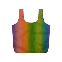 Colorful Stipple Effect Wallpaper Background Full Print Recycle Bags (S)