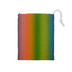 Colorful Stipple Effect Wallpaper Background Drawstring Pouches (Medium)
