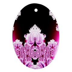 Fractal In Pink Lovely Ornament (Oval)
