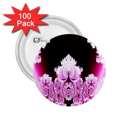 Fractal In Pink Lovely 2 25  Buttons (100 Pack)