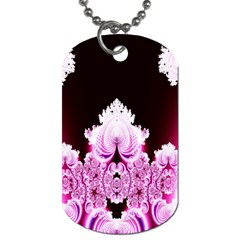 Fractal In Pink Lovely Dog Tag (two Sides)
