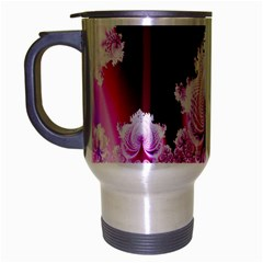 Fractal In Pink Lovely Travel Mug (Silver Gray)