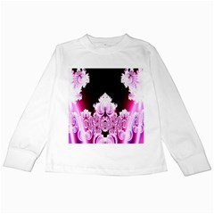 Fractal In Pink Lovely Kids Long Sleeve T-Shirts