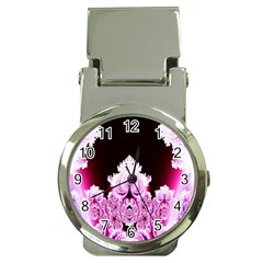Fractal In Pink Lovely Money Clip Watches