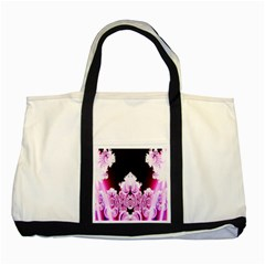 Fractal In Pink Lovely Two Tone Tote Bag