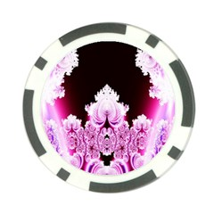 Fractal In Pink Lovely Poker Chip Card Guard