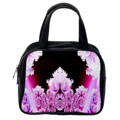 Fractal In Pink Lovely Classic Handbags (One Side)