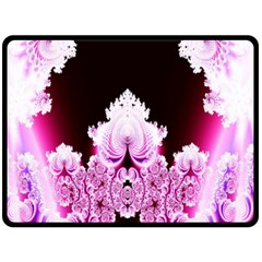Fractal In Pink Lovely Fleece Blanket (large)