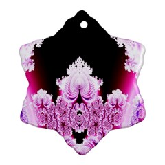 Fractal In Pink Lovely Snowflake Ornament (Two Sides)