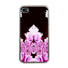 Fractal In Pink Lovely Apple Iphone 4 Case (clear)