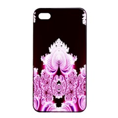 Fractal In Pink Lovely Apple Iphone 4/4s Seamless Case (black)