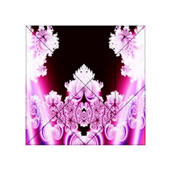 Fractal In Pink Lovely Acrylic Tangram Puzzle (4  x 4 )