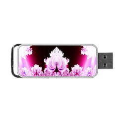 Fractal In Pink Lovely Portable USB Flash (One Side)