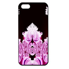 Fractal In Pink Lovely Apple iPhone 5 Seamless Case (Black)