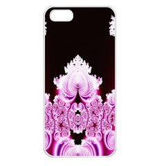 Fractal In Pink Lovely Apple iPhone 5 Seamless Case (White)