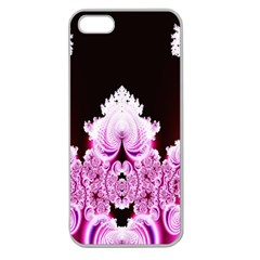 Fractal In Pink Lovely Apple Seamless Iphone 5 Case (clear)