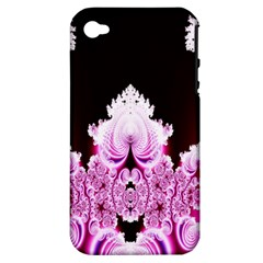 Fractal In Pink Lovely Apple iPhone 4/4S Hardshell Case (PC+Silicone)