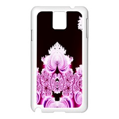 Fractal In Pink Lovely Samsung Galaxy Note 3 N9005 Case (White)