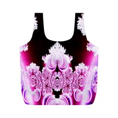 Fractal In Pink Lovely Full Print Recycle Bags (M)