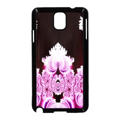 Fractal In Pink Lovely Samsung Galaxy Note 3 Neo Hardshell Case (Black)
