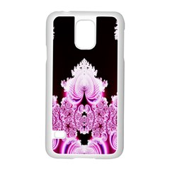 Fractal In Pink Lovely Samsung Galaxy S5 Case (White)