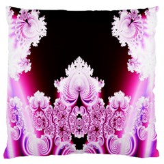 Fractal In Pink Lovely Large Flano Cushion Case (One Side)