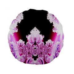 Fractal In Pink Lovely Standard 15  Premium Flano Round Cushions