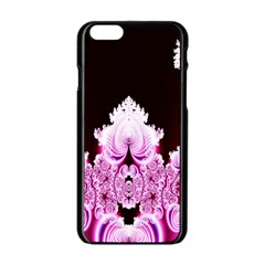 Fractal In Pink Lovely Apple iPhone 6/6S Black Enamel Case