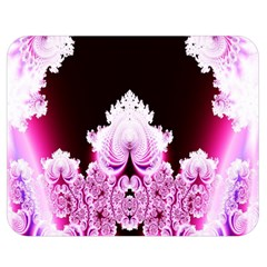 Fractal In Pink Lovely Double Sided Flano Blanket (medium)