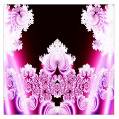 Fractal In Pink Lovely Large Satin Scarf (square)
